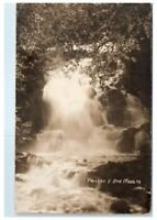 Early 1900s RPPC Otis Falls, Otis, MA Real Photo Postcard