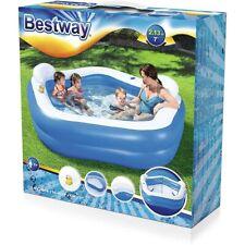 BESTWAY 54153  - Planschbecken - Family Pool mit Sitzen 213x206x69 cm