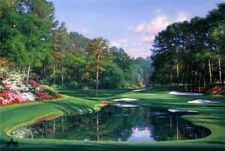 Morning At the Sixteenth by Larry Dyke Golf, Landscape Print 34x24