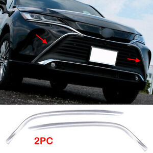 For Toyota Venza 2021 2022 ABS Chrome Front Center Grille Grill Cover Trim 2PCS