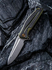 We Knife Civivi Knife OD Green G10 Carbon Fiber Handle Plain D2 Edge C901B