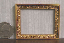 Picture Frame ~ Jim Coates ~ Dollhouse ~ 1:12 scale ~ Room Box ~ Antique Gold