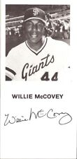 San Francisco Giants Club-Issued Player Postcard - Willie McCovey HOF