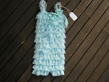 Flower Baby Cute Girls Dress Toddler Lace Princess Party Birthday Wedding blue