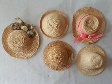 Hüte für Puppen  z.b für   GLOREX Puppen Strohhüte 5 Stück