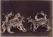 Versailles Chenets Louis XV France Vintage Albumine ca 1880