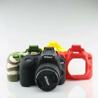 Rubber Silicone Soft Armor Skin Case Camera Cover Protector Bag For Nikon D3400