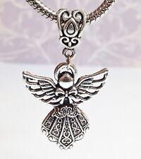*Guardian Angel*_Bead Pendant For European Charm Bracelet Necklace_Christmas _F7