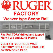 RUGER Mark 1 2 3 4 & 22/45 Scope Mount Rail Weaver Base MK II III IV picatinny