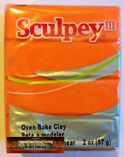 M00453 Morezmore Sculpey Iii Just Orange 2 oz Polymer Oven-Bake Clay A60