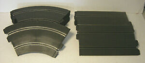 Lot of 20 Strombecker Dual Lane Slot Car Track Straight Curve 1960s Vtg USA Made