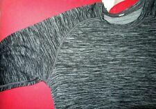 LULULEMON Men's METAL VENT TECH Long Sleeve Shirt Tee-Black White-Medium-EUC