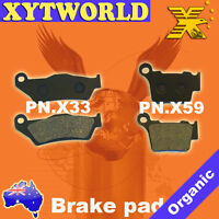 FRONT REAR Brake Pads for KTM SX 250 SX 2003 2004 2005 2006 2007 2008