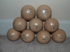 Lot Of 9 Htf Vintage Old Slazenger County Cricket Balls Made In England