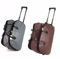 New Lightweight Wheeled Hand Luggage Trolley Cabin Travel Bag Holdall UK SELLER