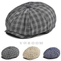 Casquette de gavroche à rayures en coton pour hommes marine/marron/noir chapeaux