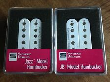 Seymour Duncan SH-4 JB and SH-2N Jazz Hot Rodded Humbucker Pickup Set White New