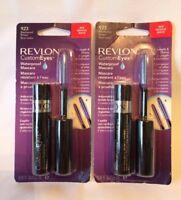 2 REVLON Custom Eyes Waterproof MASCARAS ~ PICK YOUR SHADE ~ NEW & SEALED !!