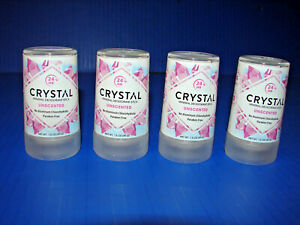 4-PACKS! Crystal 1.5 oz Unscented Mineral Deodorant Travel Stick **BRAND NEW**