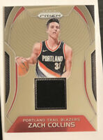 2017-18 Panini Prizm Sensational Swatches Zach Collins RC ROOKIE Jersey Patch