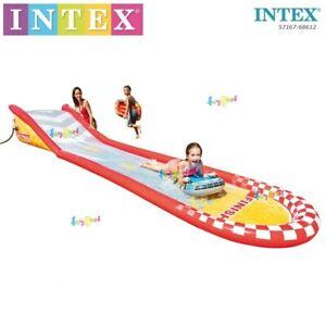 New INTEX Inflatable Racing Slip & Water Slide Spray Centre 5.61m LONG, 5716-NP