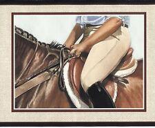 Horse & Girl Rider Border - Artwork by Janet Griffin-Scott - York Borders - 591