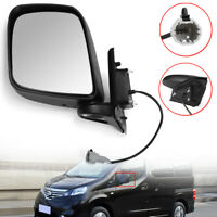 Left Side Electric Wing Mirror Black For Nissan NV200 2010-2016