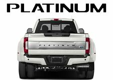 Black Tailgate Letters for Ford F-250 350 450 550 PLATINUM 2017 2018 19 Inserts
