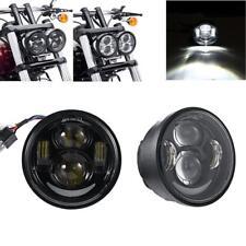 Luz doble de la motocicleta LED principal para Harley Dyna Fat Bob FXDF 08-16 proyector doble de la luz principal de 4.65 pulgadas Hi//Low Beam DRL