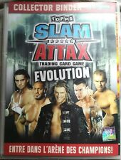 245 cartes+2 collector binder SLAM ATTAX TRADIND CARD GAME/EVOLUTION-NO DOUBLE