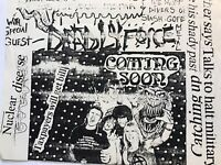Dallas TX 1980's Hair Band Flyer DEADLY FORCE & Domestic Violence Silver Dollar