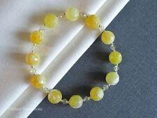 "Agate Beaded Natural 7.5 - 7.99"" Fine Gemstone Bracelets"