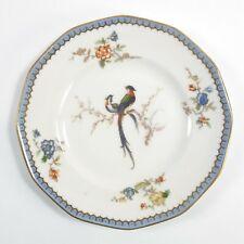 Antique Theodore Haviland Limoges Paradise Salad Plate Birds Floral