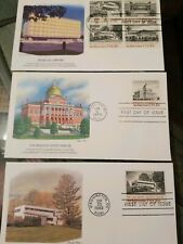 US Stamps (3) Architecture Fleetwood First Day Covers 060624