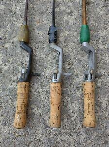 Vintage True Temper Steel Shaft Casting Fishing Rods Lot of 3 Salvage USA