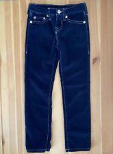 TRUE RELIGION Soft Navy Blue Slim Corduroy Pants Size 8