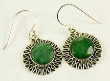 Pendientes de joyería esmeralda