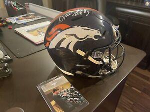 Drew Lock - Denver Broncos - Speed Flex Authentic Helmet- Signed