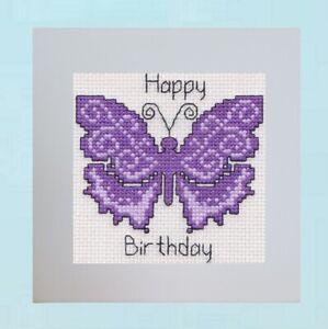 Birthday Card - Cross Stitch Kit - Butterfly