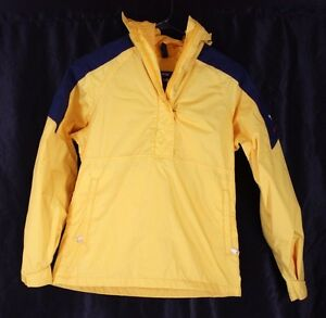 The North Face Extreme Gore Tex SMALL Yellow 1/2 Zip Pullover Jacket Coat VTG 80