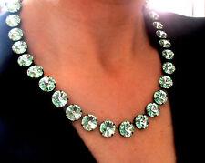 Swarovski Necklace Anna Wintour Chrysolite Green Rivoli 12mm Cupchain Choker