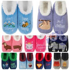 "Slumbies Pairables Style NonSlip Soft Slipper Sock ""SLOTH BEE Llama WINE Coffee"""