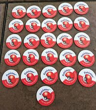 1999 Pokemon Master Trainer Board Game Replacement Parts ALL 26 Red Chips Pogs