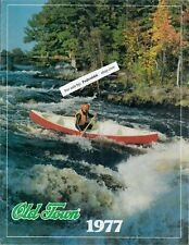 1977 Old Town Canoe Boat Color Sales Catalog Maine Company Canoes Boats Original