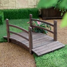 4 Foot Dark Brown Garden Bridge Outdoor Furniture Decor Structure Home Backyard