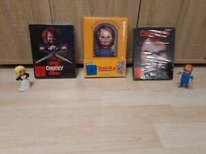 Chucky die Mörderpuppe MEDIABOOK  lenticular Wattiert OVP+ Chucky 2 & 3 +Neca