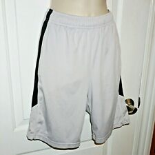 Nike Dri-Fit Training Shorts Gray Black Athletic Youth Boys Sz Medium M EUC SL