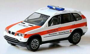 BMW X5 E53 DRK Rheinfelden Notarzt 1:87 Herpa 046244