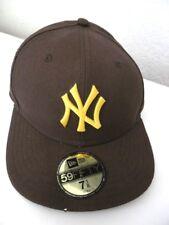 Casquette NY New Era 59 Fifty Genuine Merchandise 7 1/8 KAPPE CAP SNAPBACK Brun