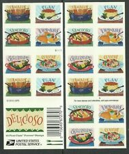 US FOOD 2017 SCOTT 5192-5197 DELICIOSO 20 MVF FOREVER STAMP 2-SIDED BOOKLET PANE